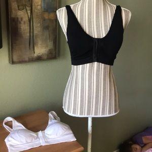 BAMBOO Intimates & Sleepwear - Bamboo bras, black & white (2 bras total)